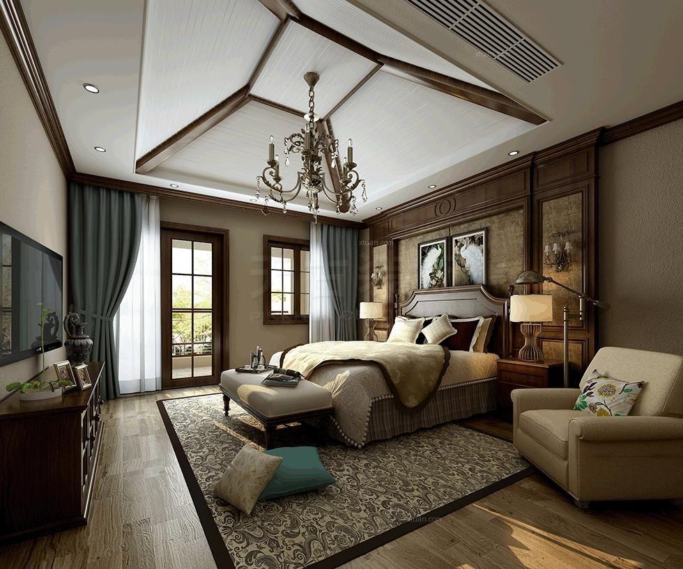 重庆别墅设计天古装饰江与城原山别墅欧式风格设计案例装修效果图图片