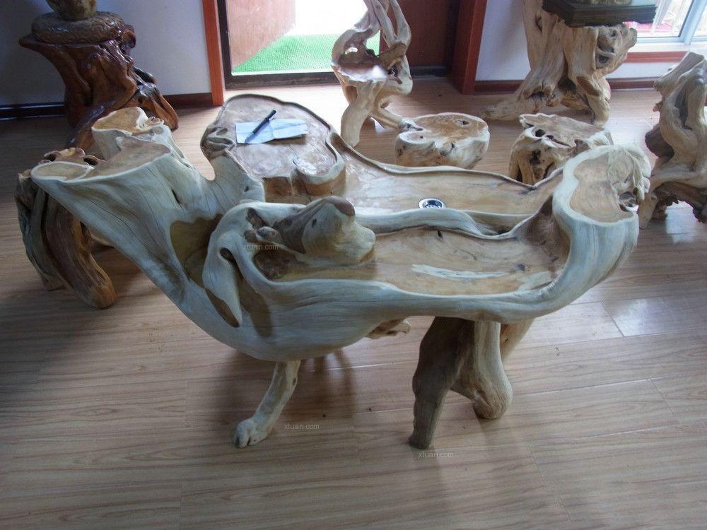 根雕茶台装修效果图