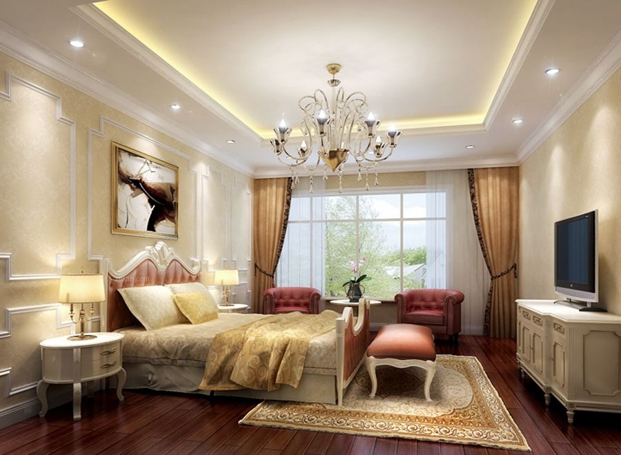 时尚风格-124平米三居室
