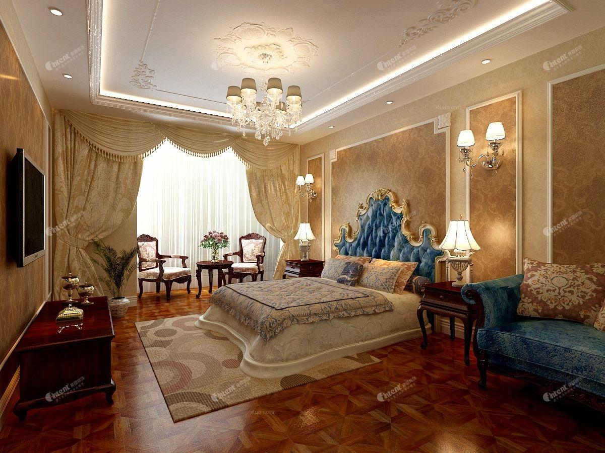 别墅欧式风格主卧室榻榻米