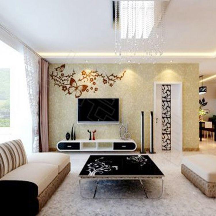 欧式客厅背景墙装修效果图 8款欧式客厅电视背景墙