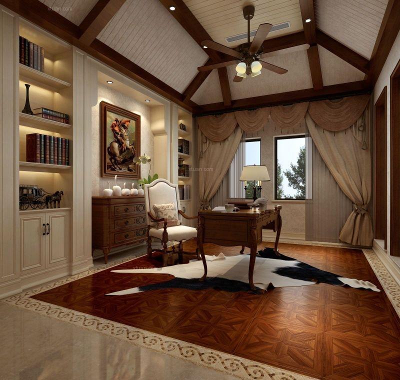 中海国际别墅装修案例-美式风格