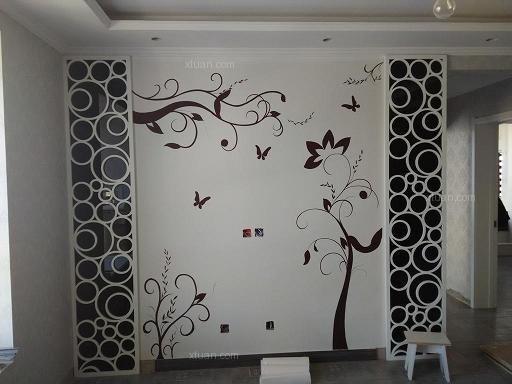 家居手绘墙画,手绘电视墙画 手绘儿童房彩绘墙 玄关风水画,电表开关盒