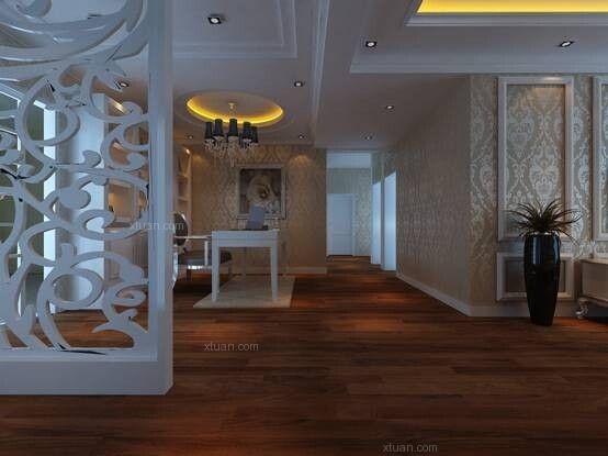 海伦国际135平米欧式风格12万_装修样板房