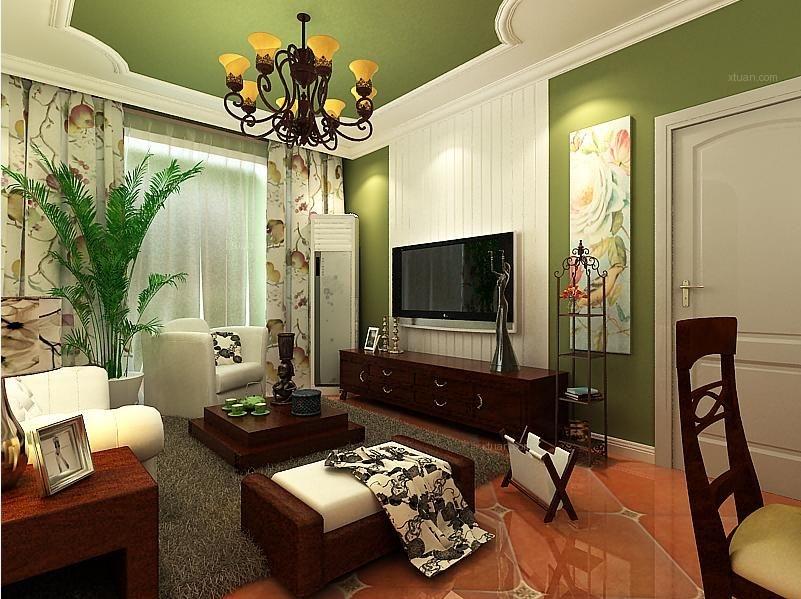 锦绣城112平美式风格精装修案例
