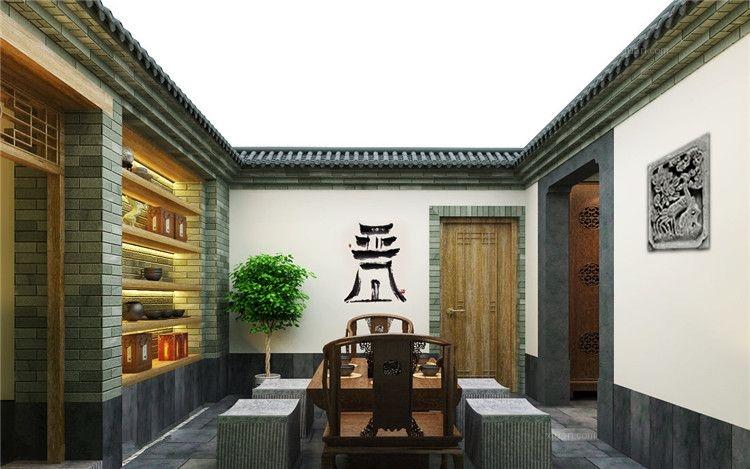 中式私人会所设计惬意悠然装修效果图