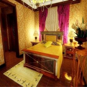 假日风景90平米东南亚风格卧室装修效果图-东南亚风格卧室效果图,图片