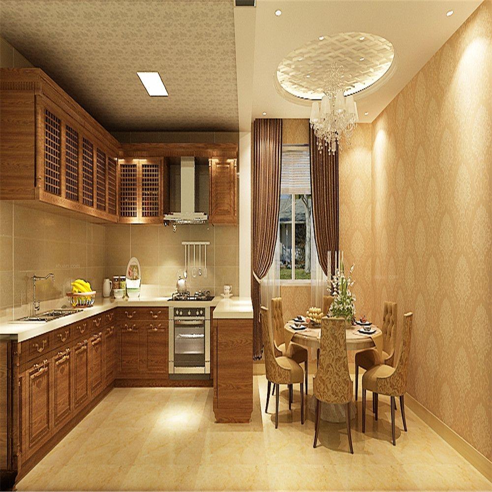 复式楼简欧风格厨房开放式厨房图片