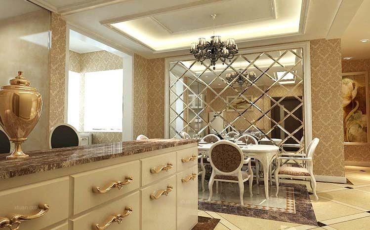 三室两厅简欧风格餐厅图片