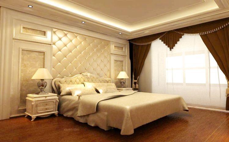 主卧室三室两厅简欧风格 设计理念:遵循客户要求选材方面,除了欧式米图片