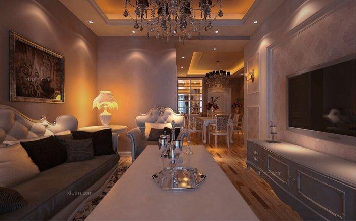 创意个性布局 凤凰美地10号楼802室7.2万打造简欧家居