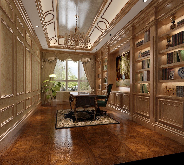 别墅欧式风格书房软装