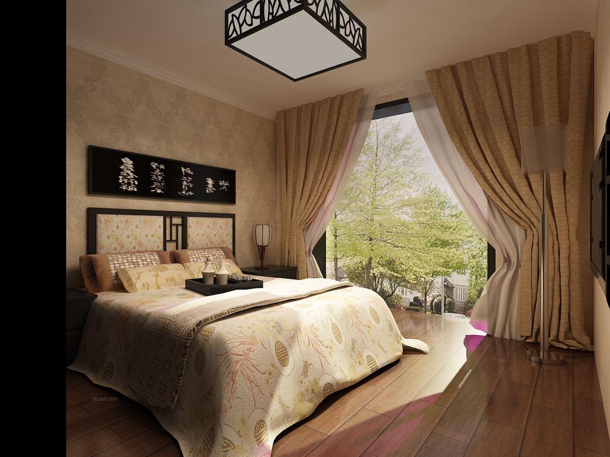 两居室中式风格卧室图片