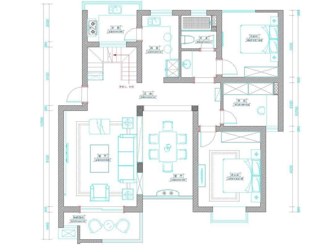 大华紫颐园别墅现代简约风格设计装修效果图