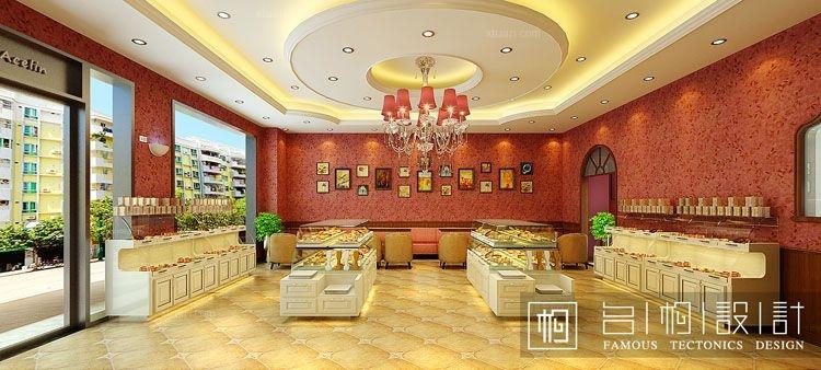 安徽全椒刘女士蛋糕店设计方案装修效果图