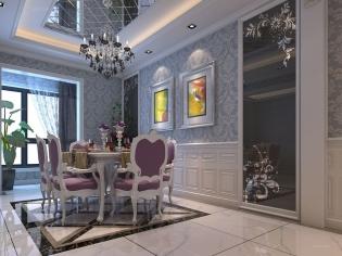 西安装修案例效果图:四室两厅-欧式风格