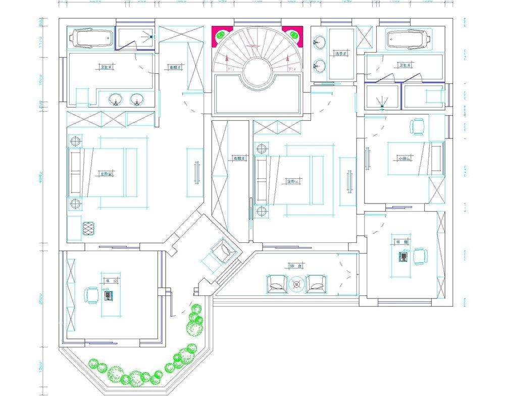 晶苑四季御庭别墅新中式风格设计装修效果图