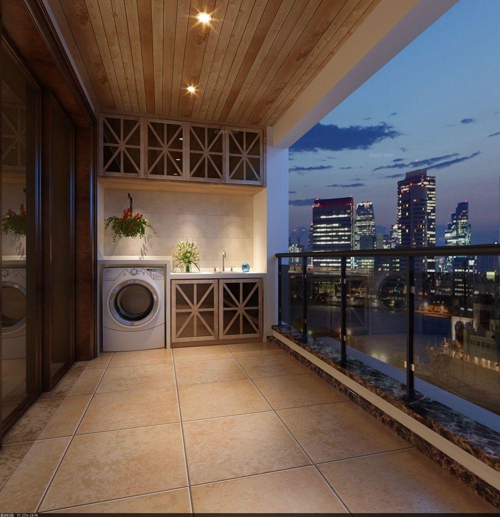 大户型法式风格阳台图片