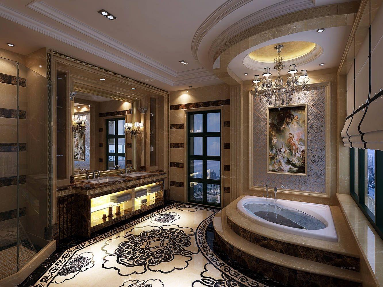 牡丹园别墅美式风格设计方案装修效果图图片