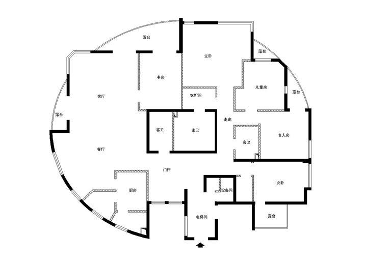 幸福五口家庭的简欧六居室