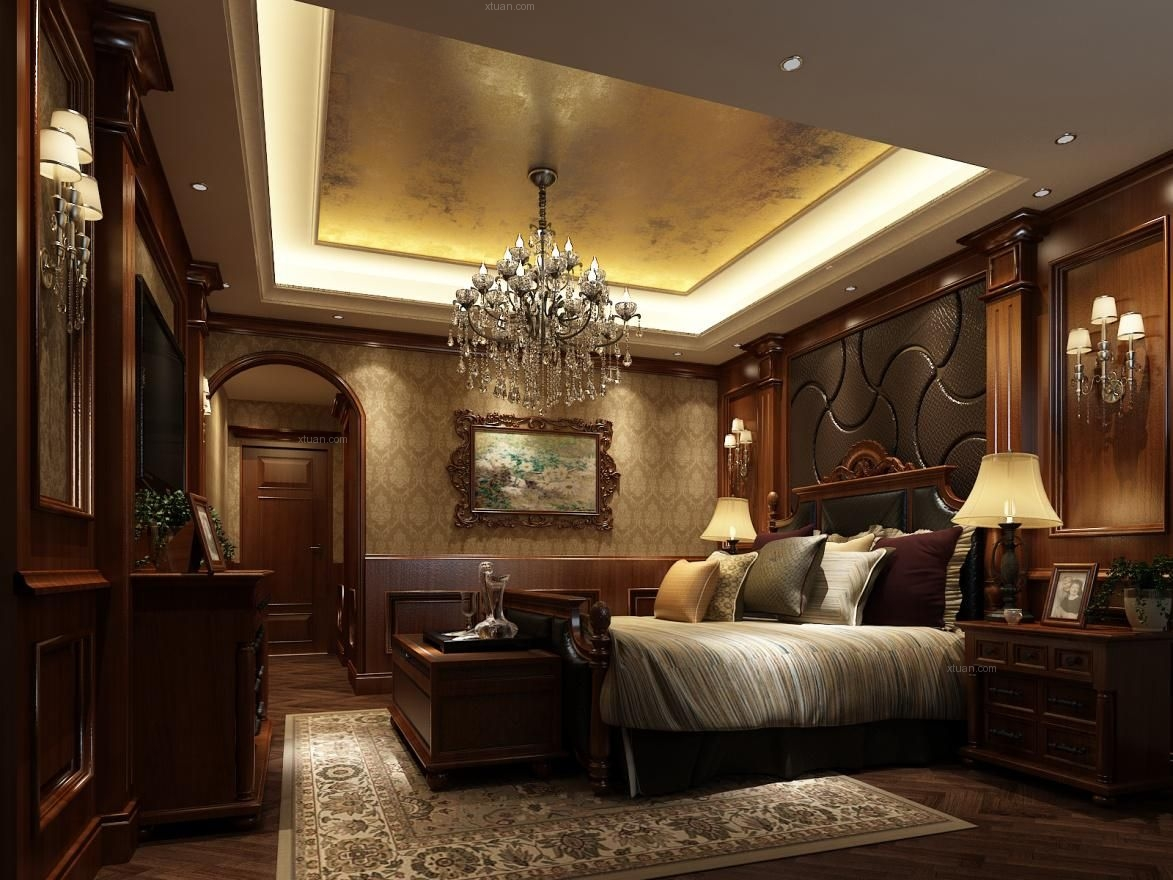 大户型欧式风格卧室沙发背景墙