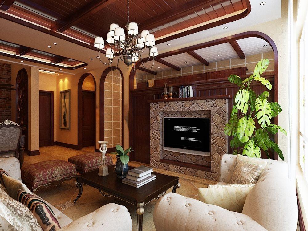 小户型美式风格客厅图片