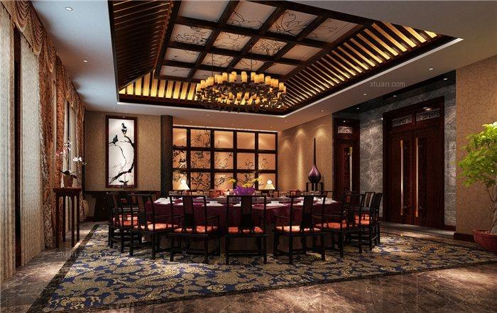 中式餐饮会所装修设计图片