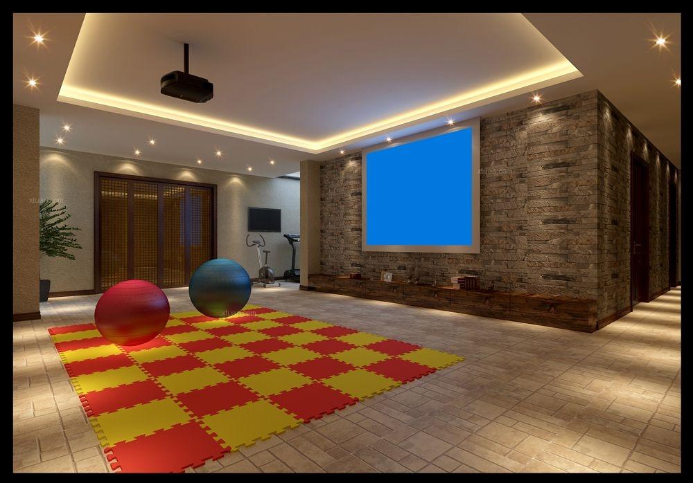 独栋别墅乡村风格地下室图片
