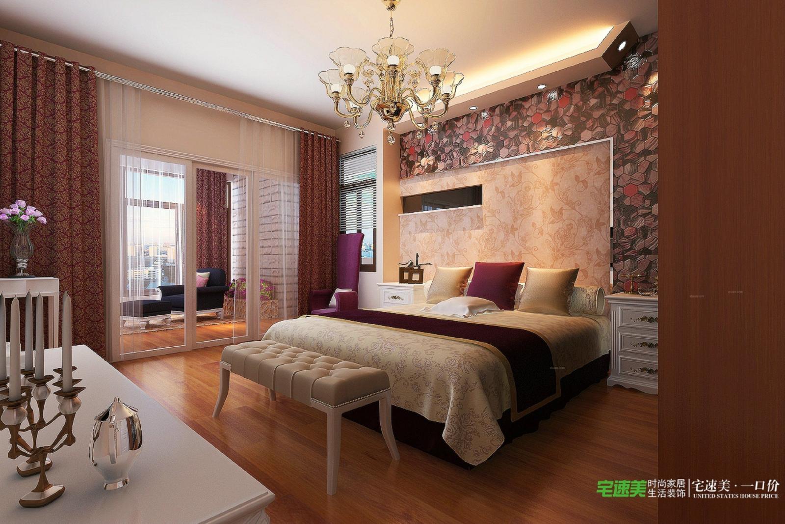 两居室欧式风格主卧室图片