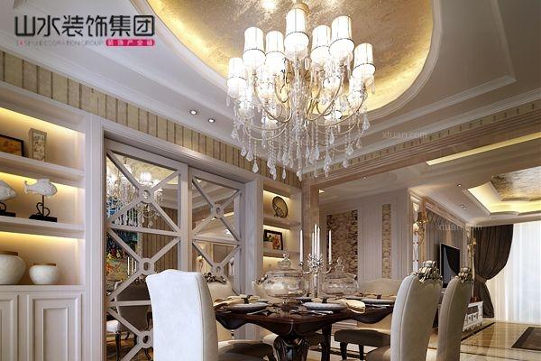 三居室简欧风格餐厅图片