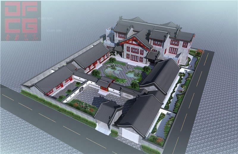 中式四合院设计展示古典风采装修效果图