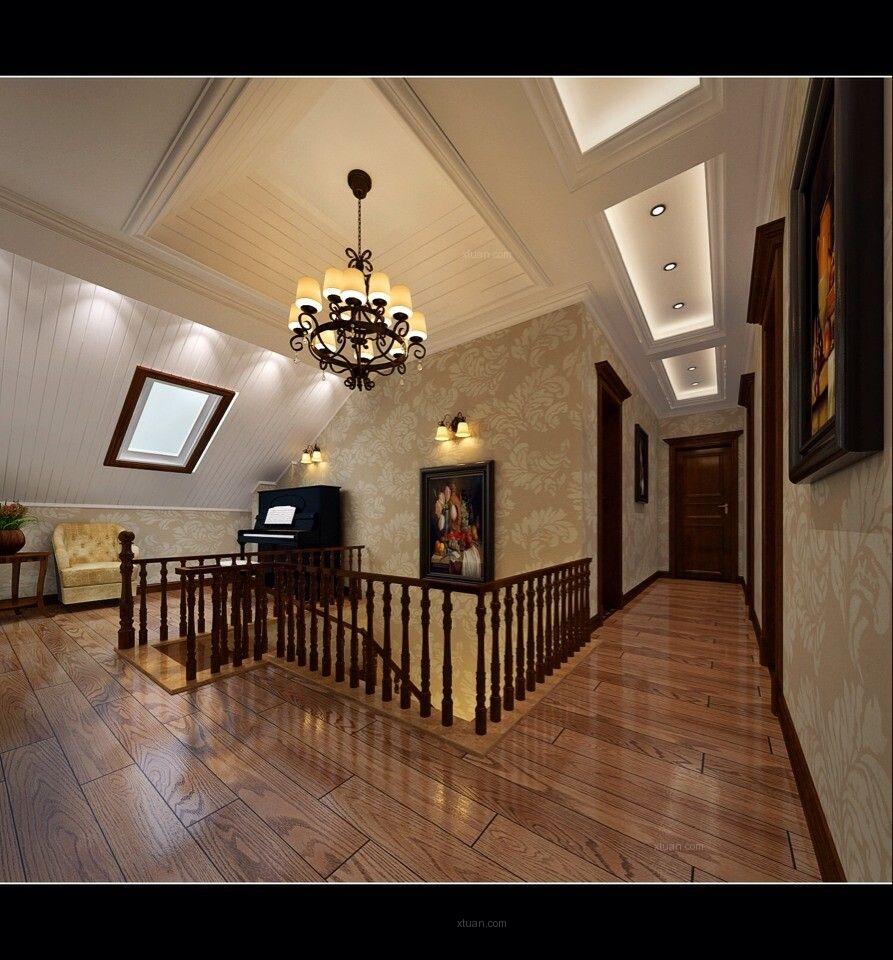 古典美式风格别墅装修效果图_业之峰装饰_郑州总部室