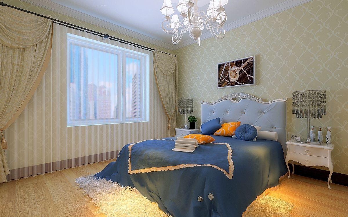 三室一厅简欧风格主卧室图片