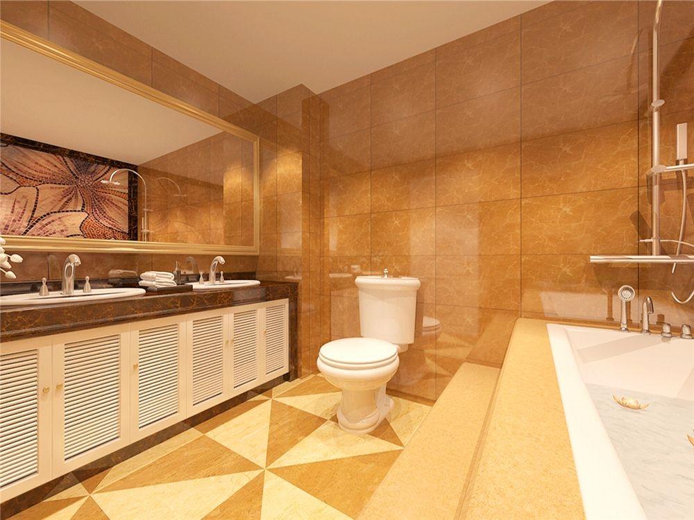三室两厅简欧风格卫生间图片