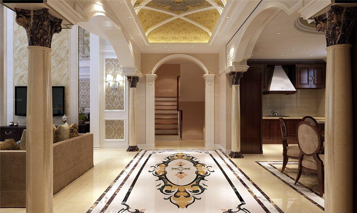 别墅欧式风格玄关图片