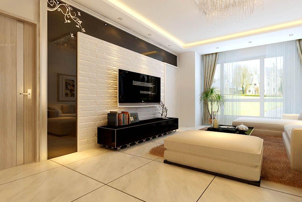 标签:客厅三室两厅现代简约电视背景墙 设计理念:本案属于小三室