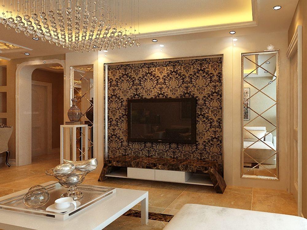 三室两厅欧式风格客厅电视背景墙图片