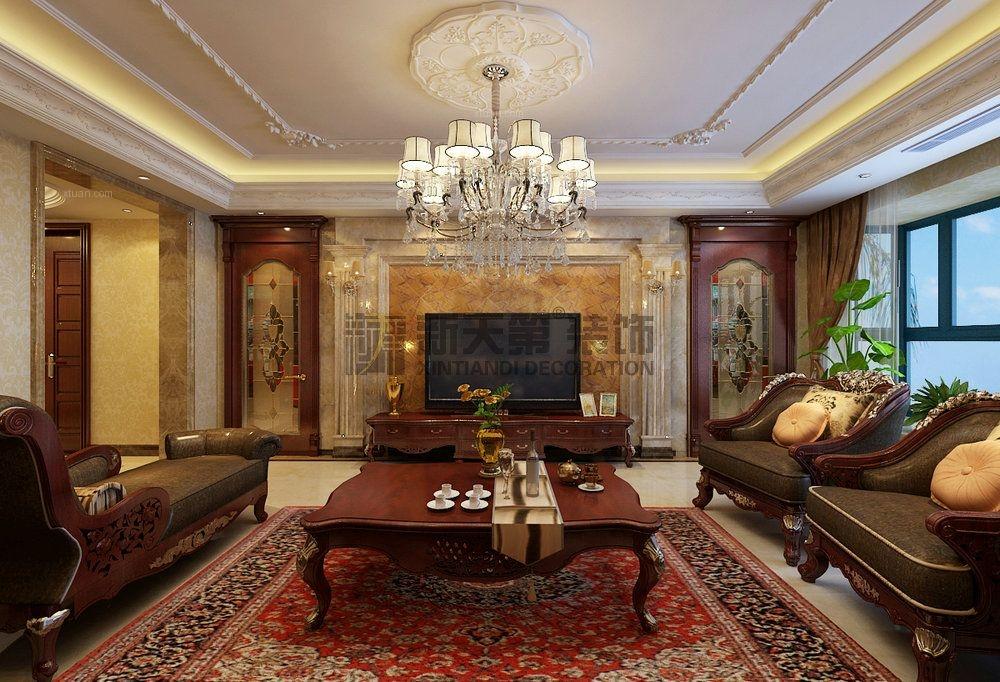 恒大华府欧式风格四室两厅装修效果图图片
