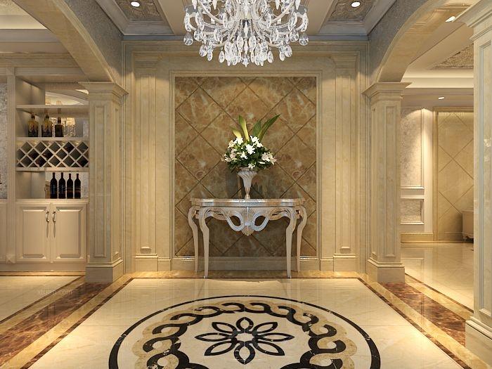 四合上院五居室欧式风格案例装修效果图图片