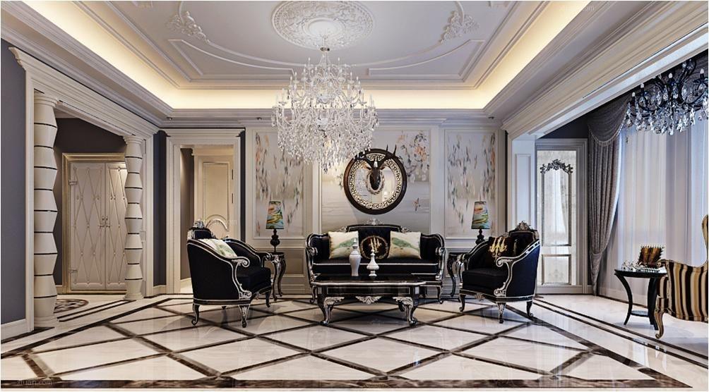两室一厅法式风格客厅图片