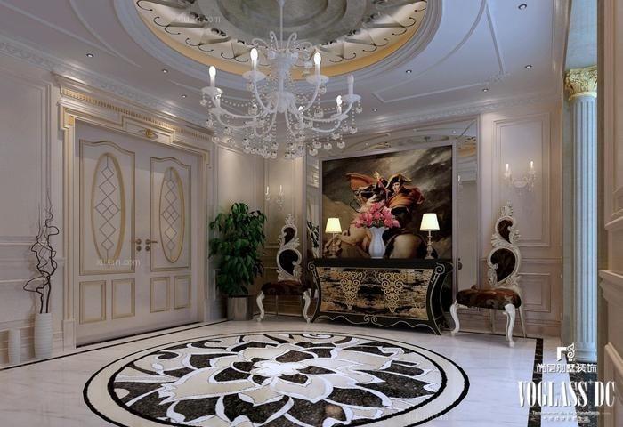 成都别墅首席设计师推荐欧式新古典浪漫主义风格案例欣赏装修效果图图片