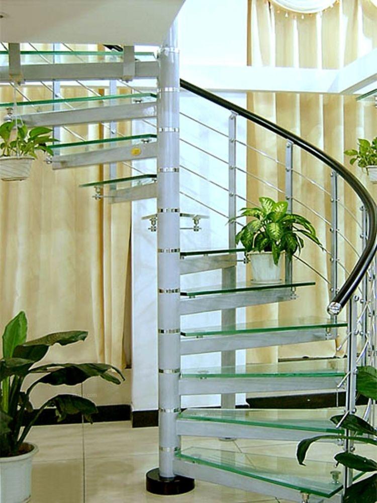 不锈钢楼梯装修效果图