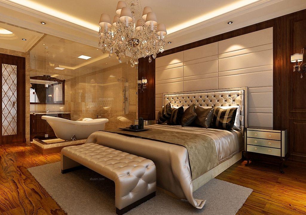 一室一厅简欧风格主卧室