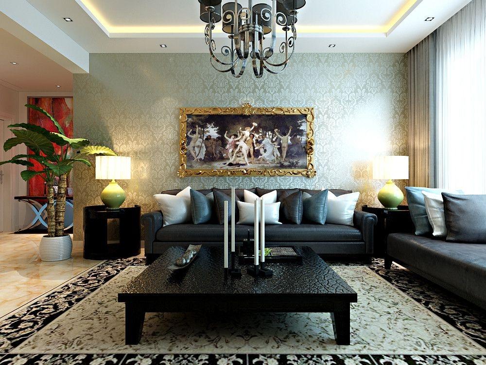 三室两厅混搭风格客厅
