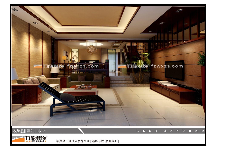 标签:客厅别墅中式风格电视背景墙 设计理念:又是一位希望将传统国粹