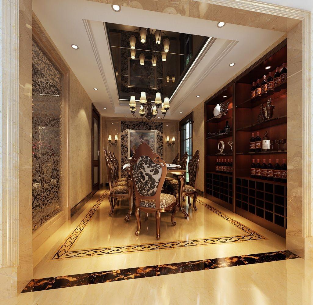 世茂佘山里别墅欧式风格设计方案装修效果图图片