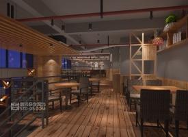 原木风餐厅---东莞拾味馆烧烤餐厅设计