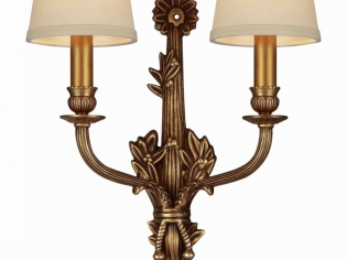 高档美式全铜客厅卧室书房双头壁灯