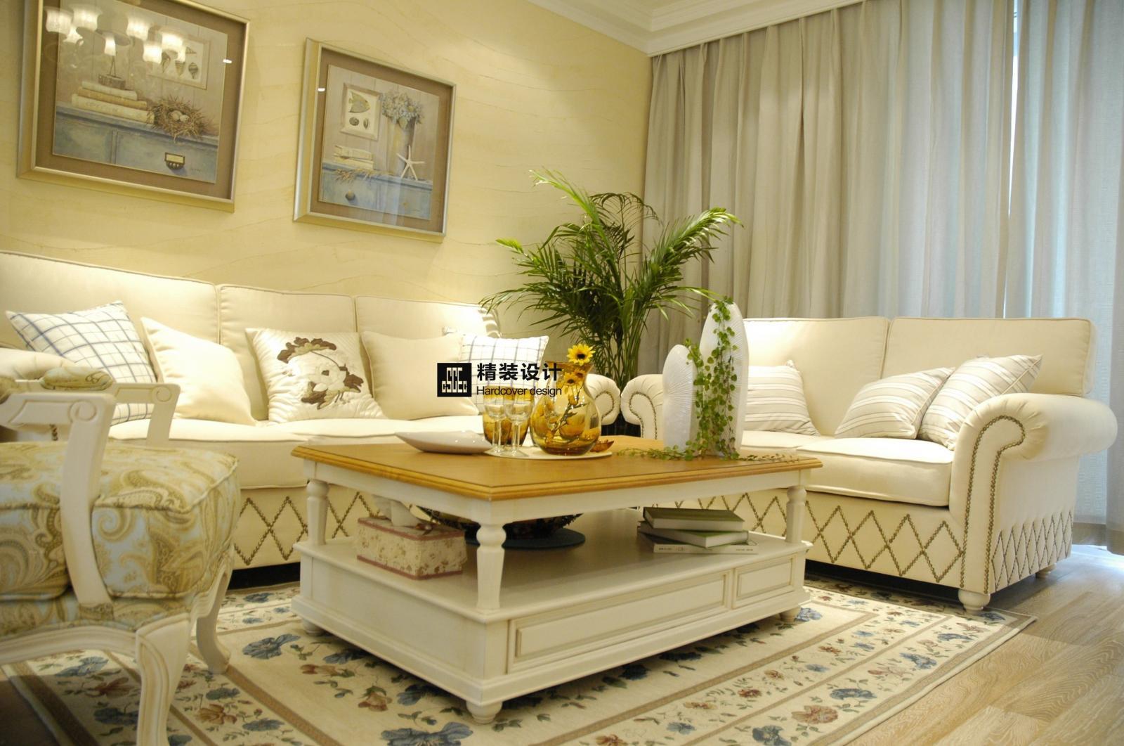 独栋别墅欧式风格客厅沙发背景墙图片