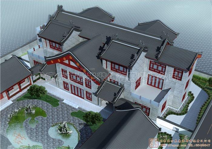 别墅型四合院设计中式风装修效果图